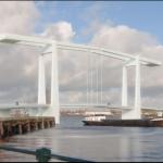 magere brug uitgelicht