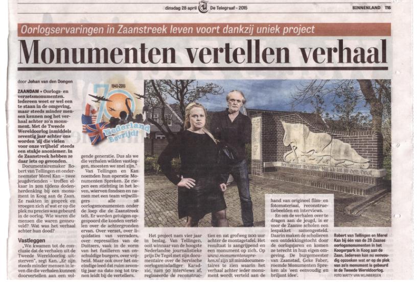 Telegraaf 2015.04.28