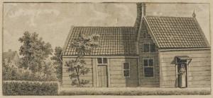 czaar peter huisje gravure