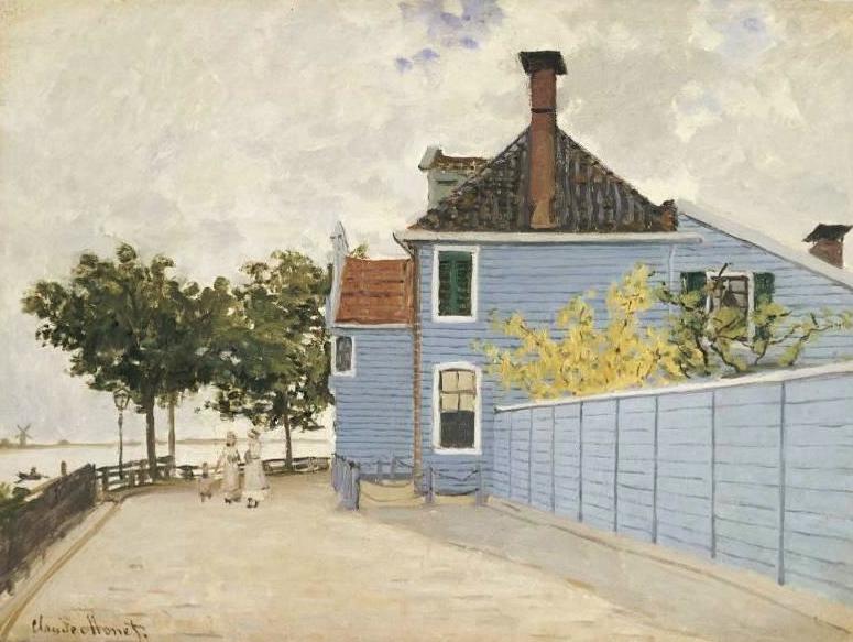 monet blauwe huis