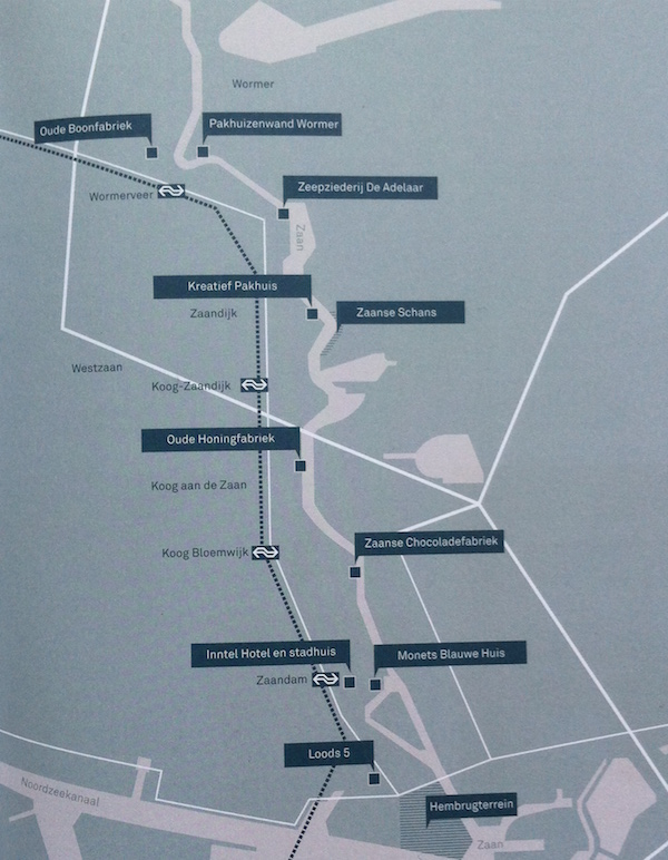kaart de fabriek