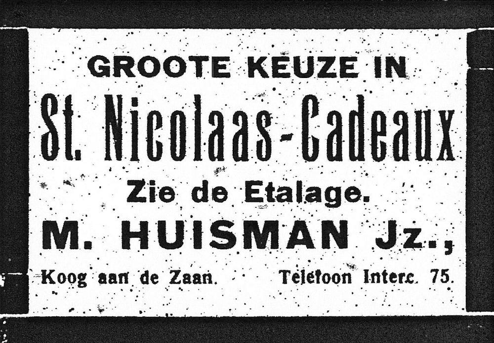 Advertentie M. Huisman