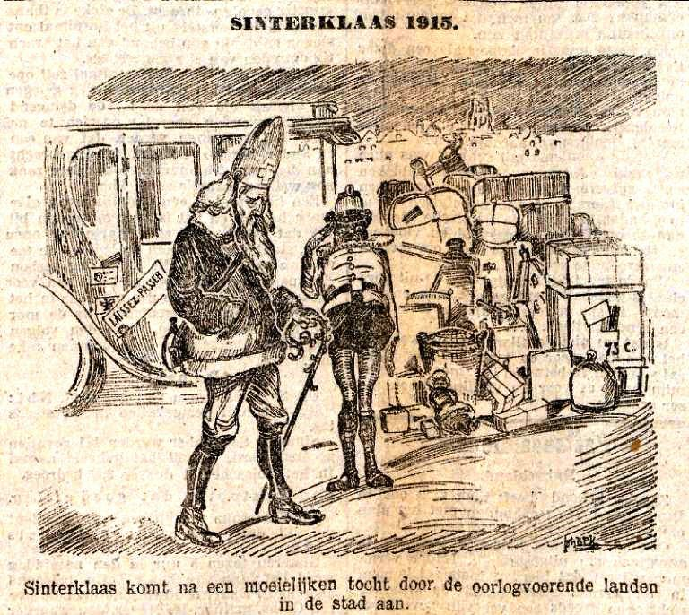 Sinterklaas 1915 Rotterdamsch Nieuwsblad 6 december 1915