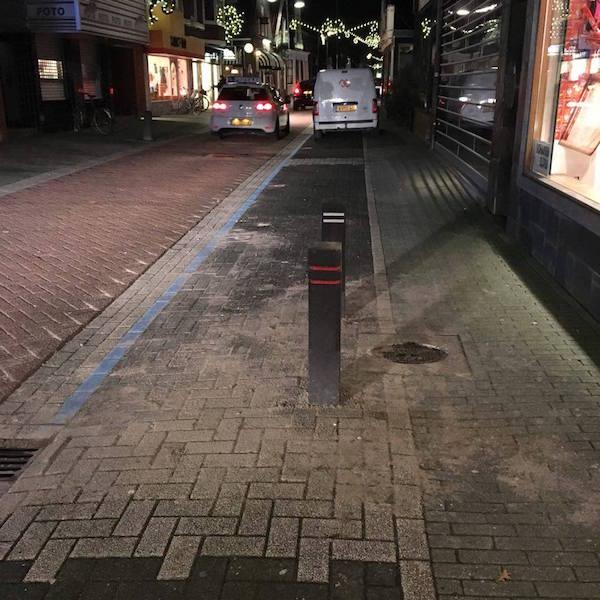 Paaltjes parkeerplaats