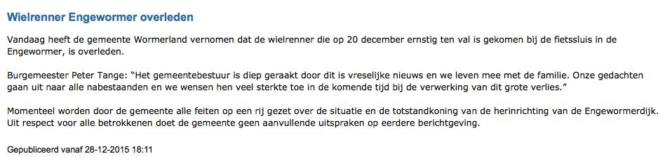 wormerland persbericht engewormer