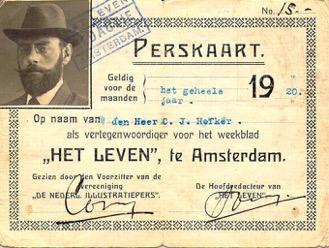 Perskaart C.J. Hofker