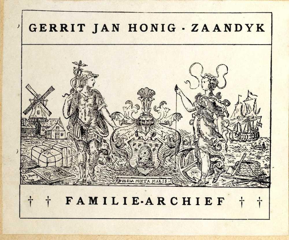 ex-libris familiearchief Honig