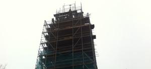 toren zaandijkerkerk steigers onder