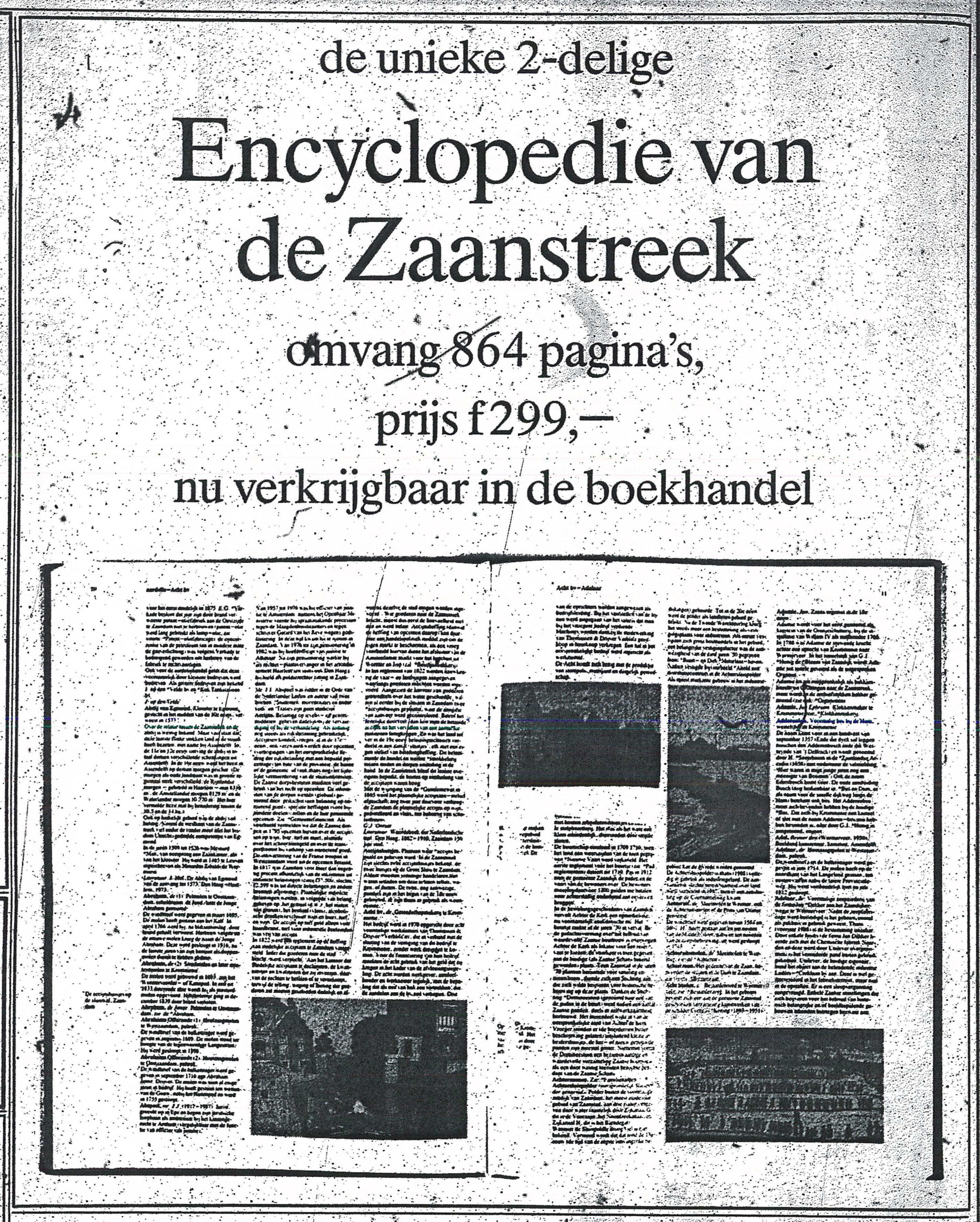 Advertentie Encyclopedie (De Typhoon, 26-10-1991)