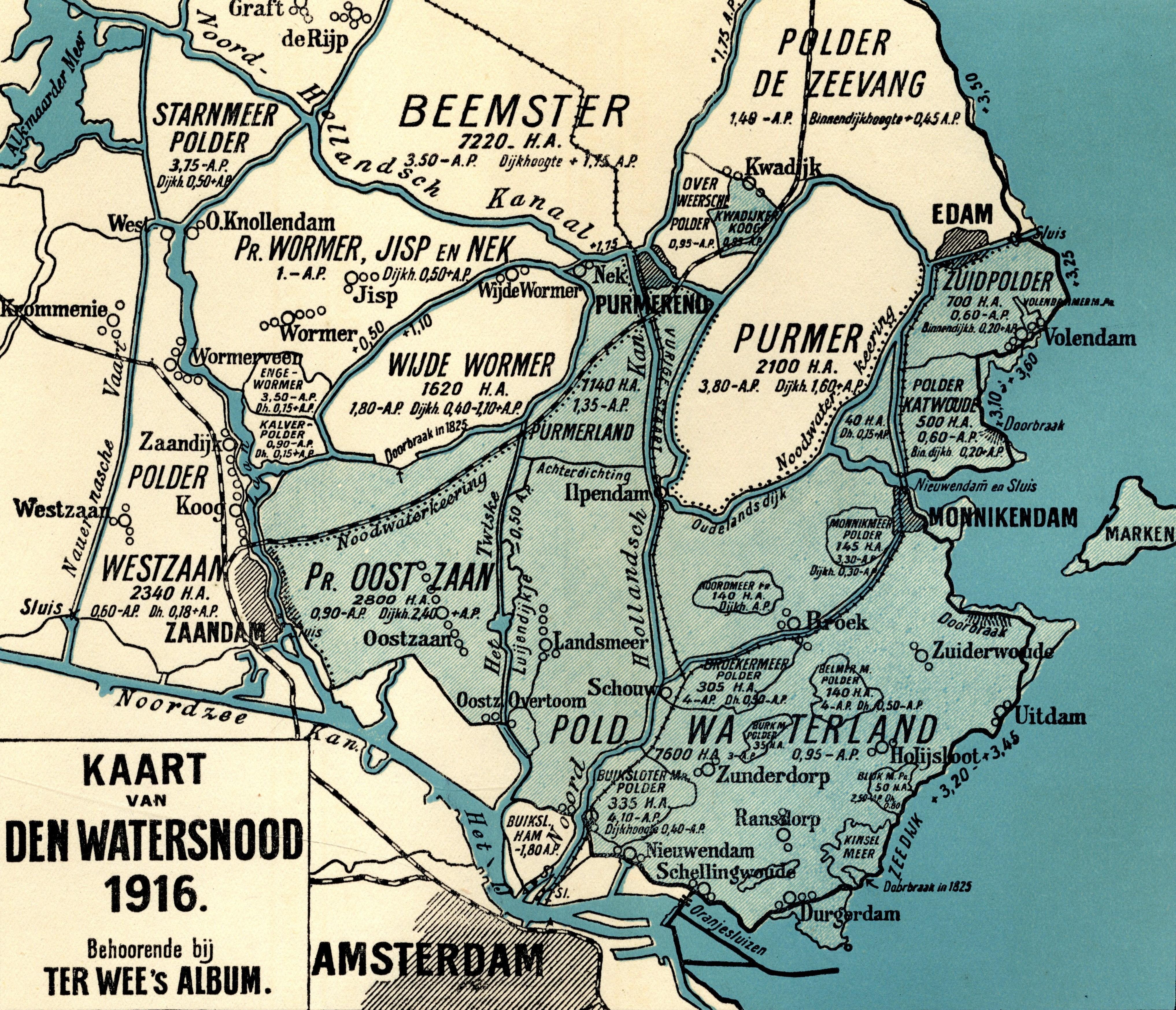 Kaart Watersnood 1916 Ter Wee