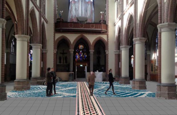 impressie vloer Bonifatiuskerk