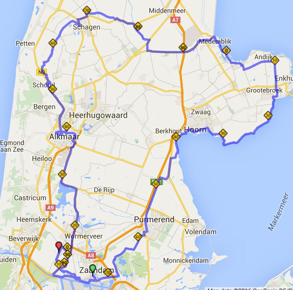route ronde noordholland 2016