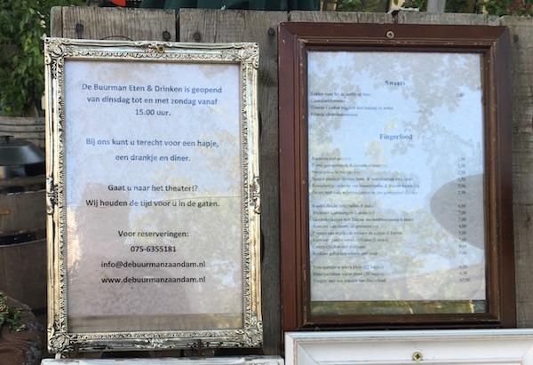 buurman menu