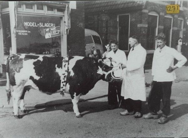 Slagerij Veenboer 1950