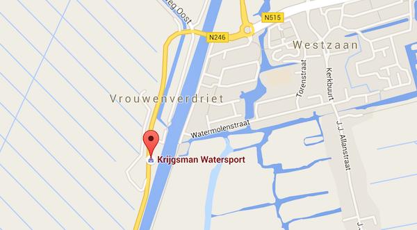 krijgsman vaartdijk kaart