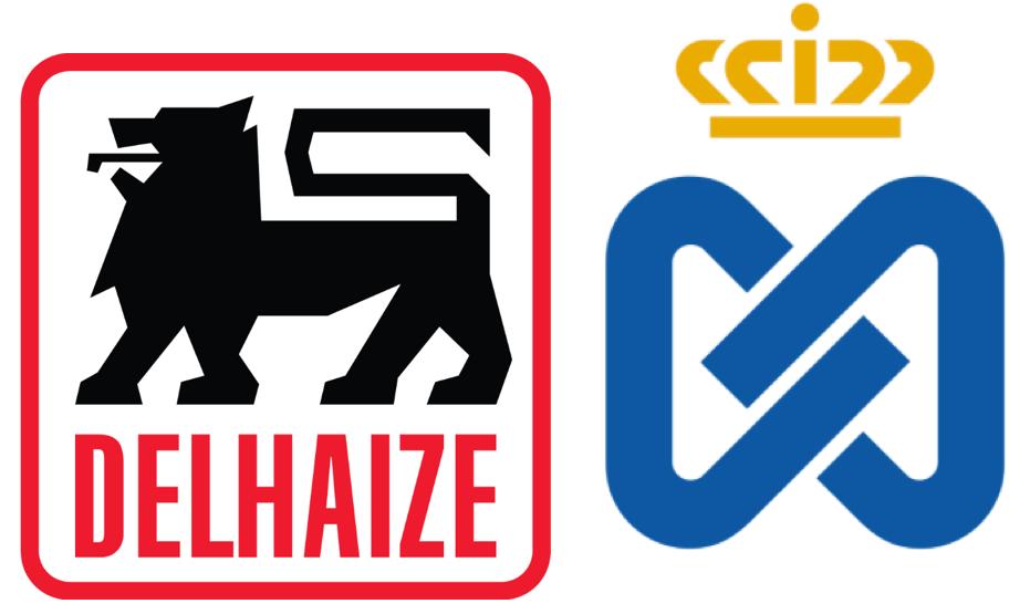 logos van delhaize en ahold