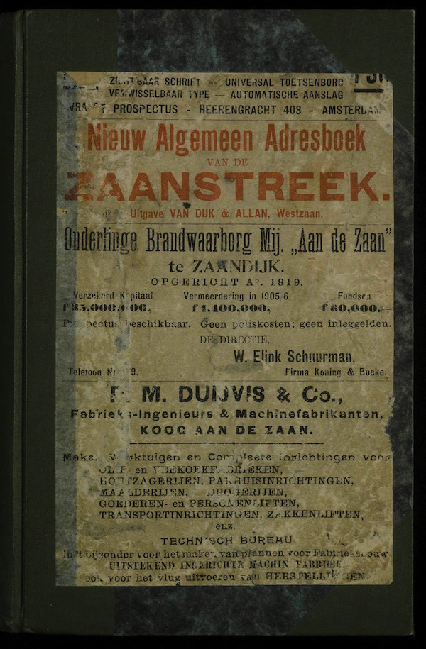 adresboek cover