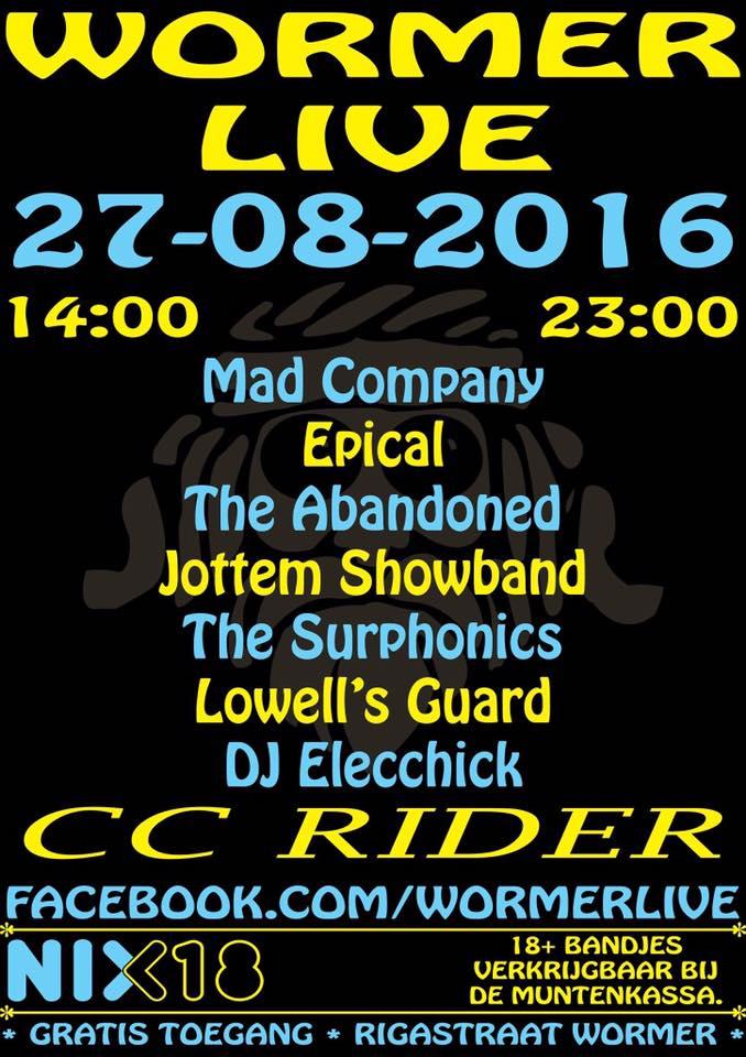 wormer live 27 augustus 2016