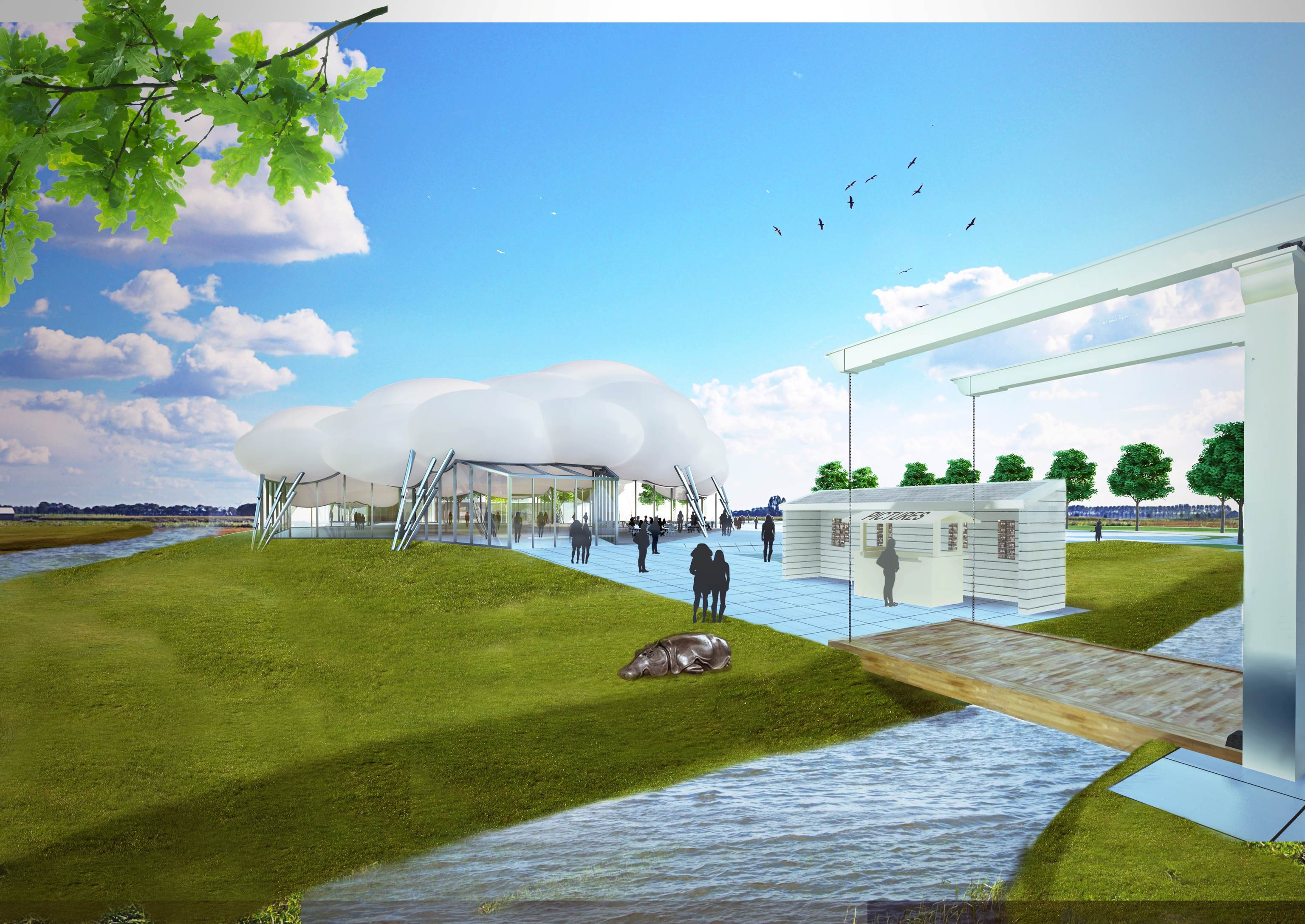 centraal-entreegebouw-voor-zaanse-schans-gezien-vanaf-de-schans-architect-wilfried-van-winden-wam-wow-design-group