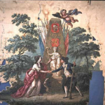 vaandel burgerkorps Wormer 1787 bron Zaans museum