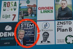 verkiezingsbord met PVV copy
