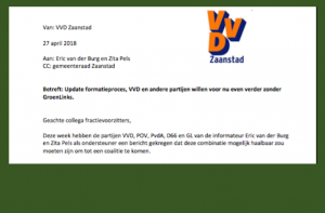 Slider Brief VVD