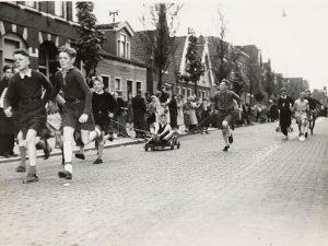 korriewedstrijd 1949 stationsstraat