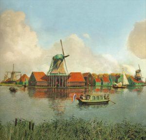 Foto 1 Deel molenpanorama met De Groeneboer coll MM koog aan de Zaan
