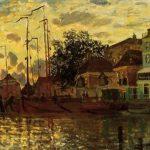 Monet_zaandam-the-dike-evening