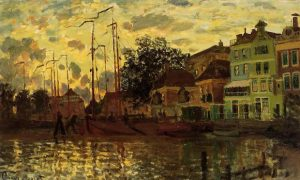 Monet_zaandam-the-dike-evening