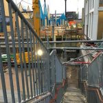 nieuwe tijdelijke trap station zaandam