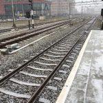 rails sneeuw station zaandam jan 2019 orkaan