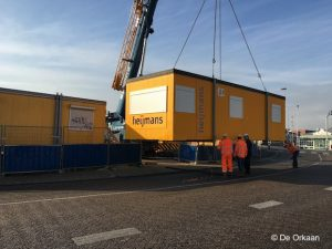 wilheminasluis heijmans container orkaan