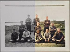 kfc 1910 kleur zwartwit