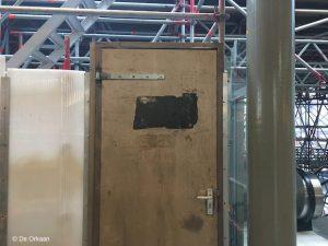 deur zonder chrome zaandam orkaan