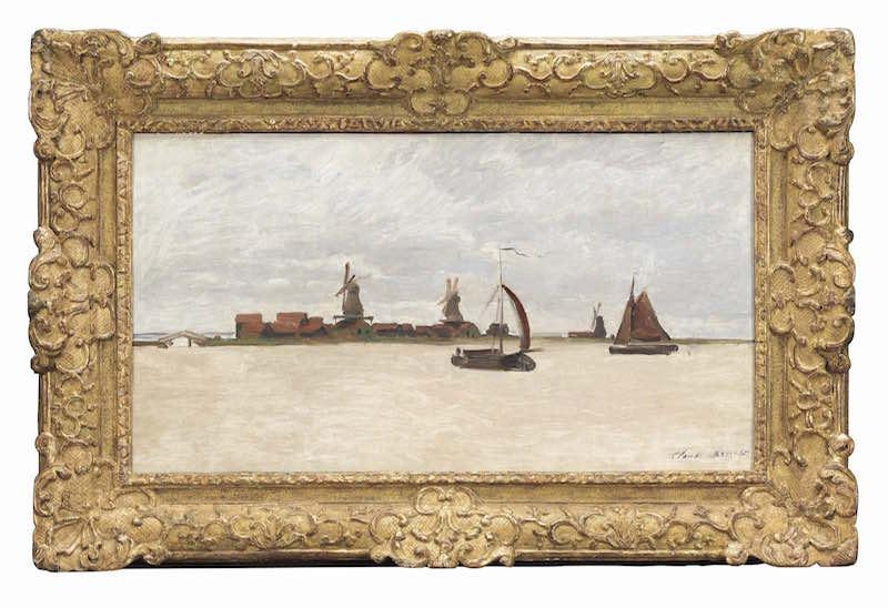 Claude Monet, De Voorzaan en de Westerhem, 1871 (collectie Zaans Museum) met lijst kopie