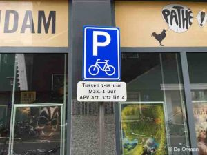 bord fietsparkeren rustenburg okt 2019 © orkaan