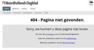 nhd pagina niet beschikbaar