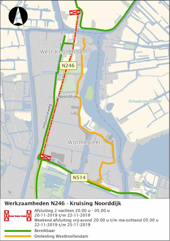 Omleidingskaart-kruising-N246-Noorddijk