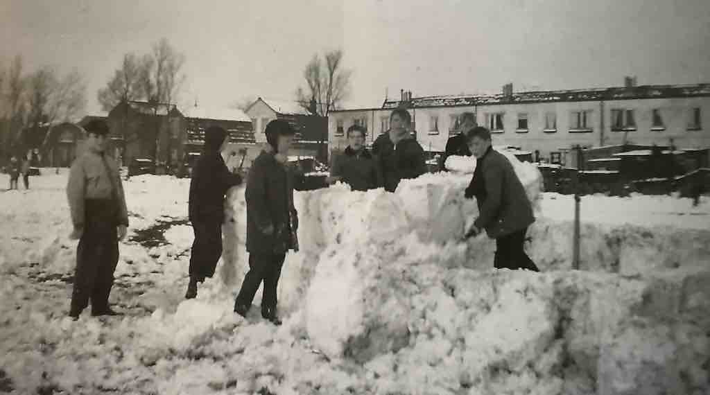 militaireweg sneeuw