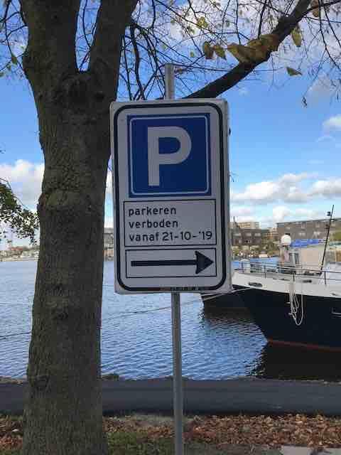verkeersbod parkeren havenstraat