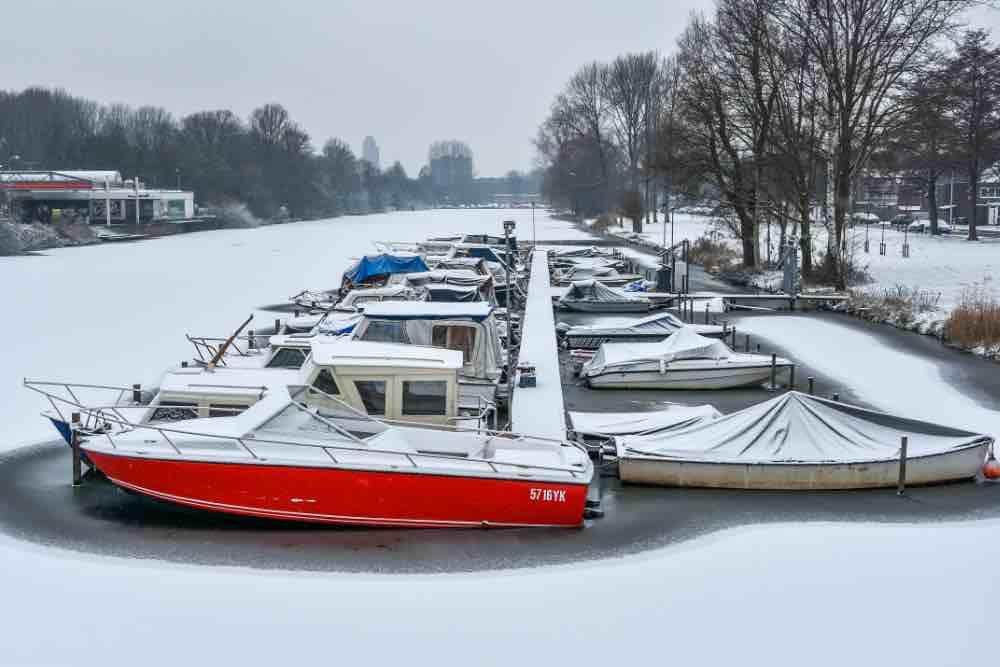 De eerste sneeuw januari 2019 zuidervaart