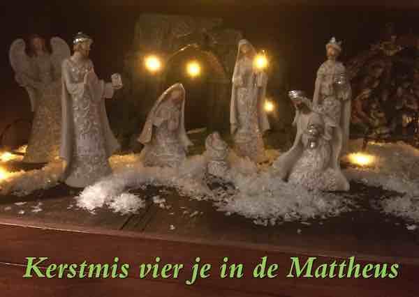 Kerstmis vier je in de Mattheus copy
