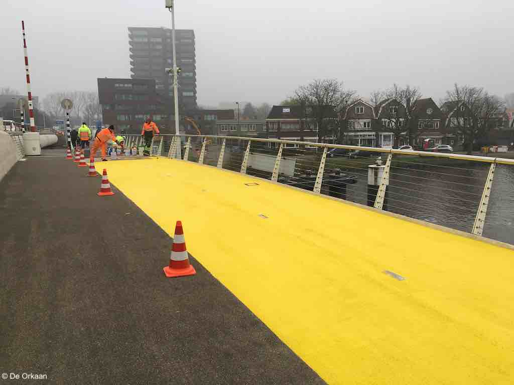 geel bernhardbrug 5 dec 2019 orkaan