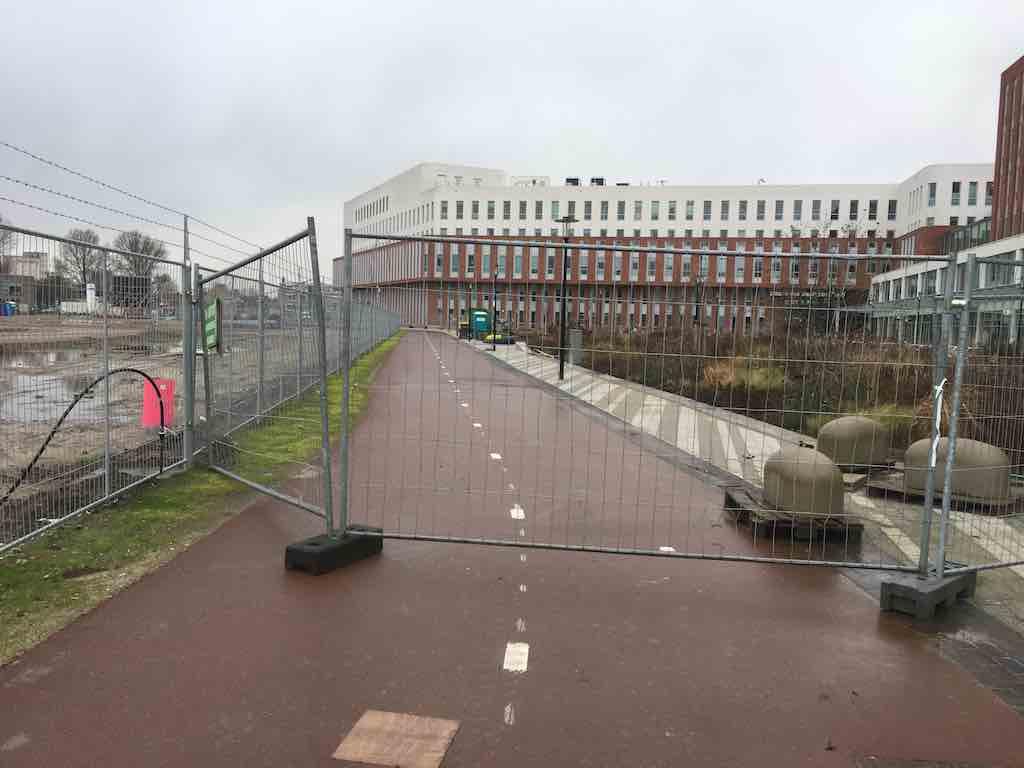 hekwerk zmc fietspad orkaan 22 dec 2019