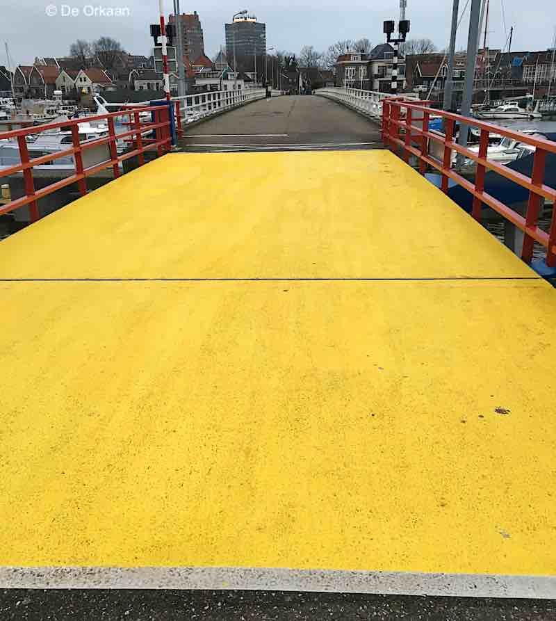brug eiland geel jan 2020 orkaan 2