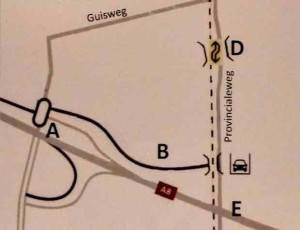 guisweg alternatieven kaart