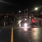 pontonbrug nacht