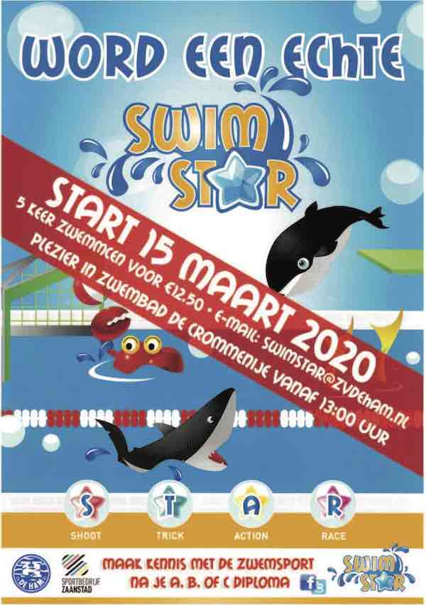 Flyer Swimstar A5 15 mrt 2020