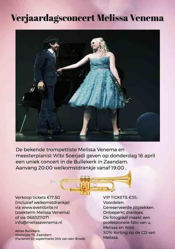 melissa Venema verjaardagsconcert 2020